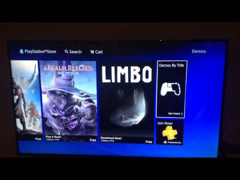 HOW TO DOWNLOAD A DEMO ON PS4!!!!:):):):):O:O