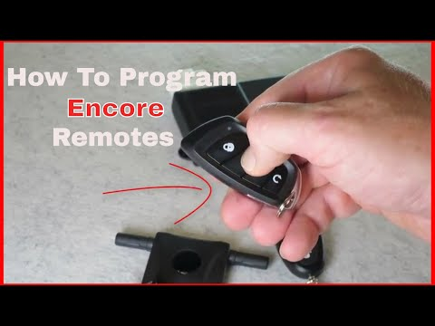 How To Program Encore Remote Transmitters