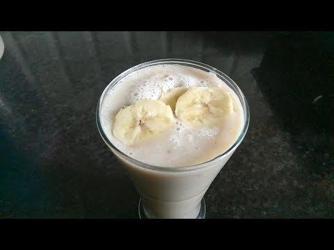 Banana Milkshake Recipe in Telugu || How to Make a Banana Milkshake By Moms Tasty Recipes