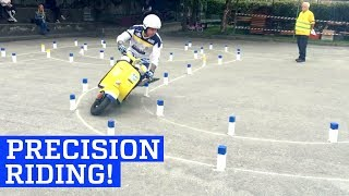Precision Scooter Riding on Vespa Agility Course!