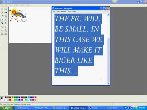 How to put two pictures together on paint