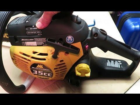 Chain Saw Maintenance After a Long Storage McCulloch MCC1635AK