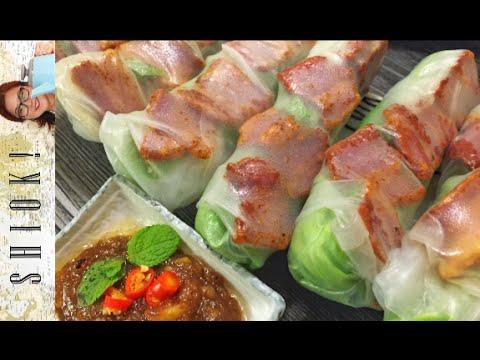 Vietnamese Spring Rolls with Peanut sauce   - Gỏi cuốn