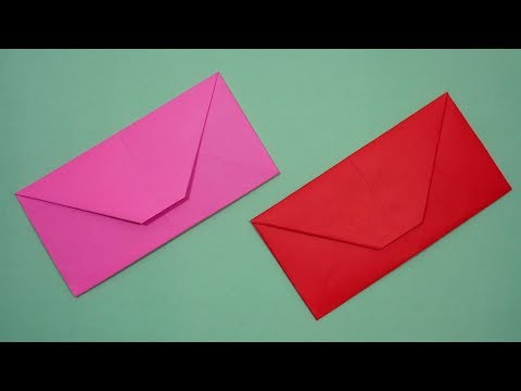 How To Make An Envelope Out Of Paper Without Glue or Tape | DIY Easy [Origami Envelope] At Home