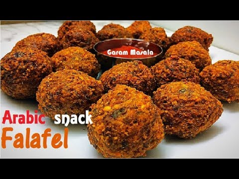 Falafel ഫലാഫെൽ Arabic snack / Crispy Fried Garbanzo Bean /Chickpea Fritter