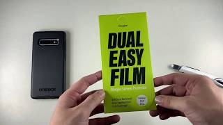 BEST Galaxy S10/S10+ Screen Protector: Ringke Dual Easy Review