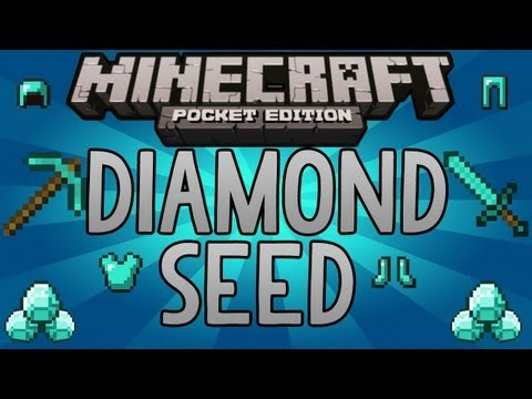 Minecraft Pocket Edition | DIAMOND SEED - With Iron, Gold, Coal, Redstone!