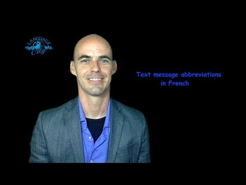 French lesson on text message language