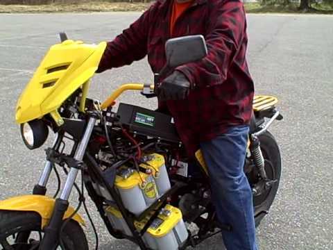 48 volt electric motorcycle RancTek