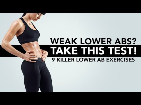 Weak Lower Abs? | TAKE THIS TEST | 9 Killer Lower Ab Exercises!