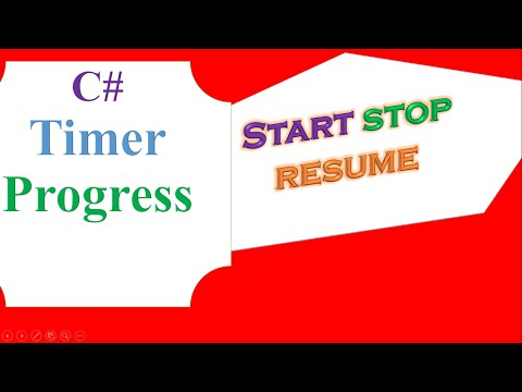 C# Timer and ProgressBar  - Start,Resume,Stop,Reset