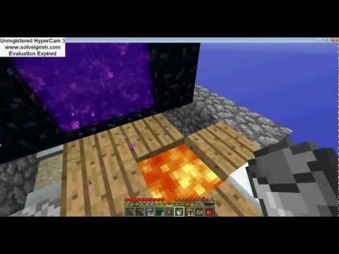 como fazer um portal para o nether no minecraft -  skyblock  #2