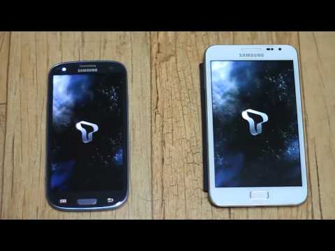 Compare GALAXY S3 and GALAXY NOTE Booting Speed