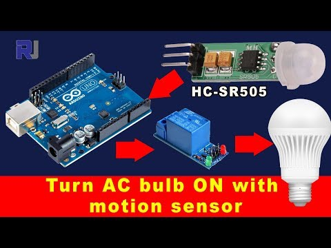 How to Turn an AC light ON with HC-SR505 motion sensor and relay