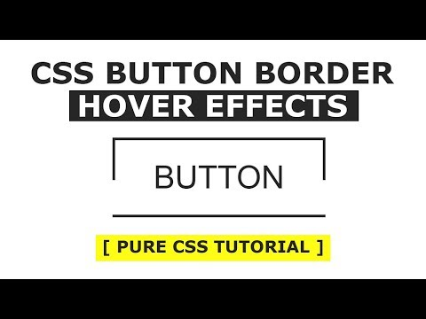 CSS Button Border Hover Effects - Html CSS Hover Effects Tutorial