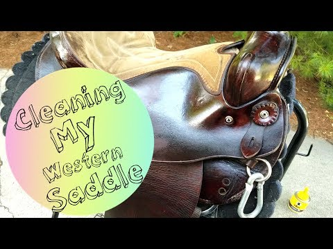 Cleaning a Western Saddle