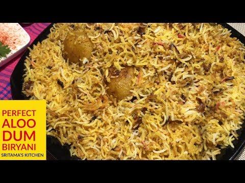 Aloo Dum Biryani-Aloo Biryani Recipe Step By Step-दम बिरयानी हिंदी-Aloo Dum Biryani Restaurant Style