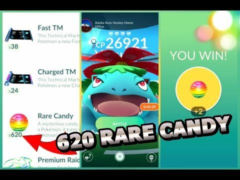 620 RARE CANDY | Raid Experiment | 100% Venusaur in Pokemon GO | Tyranitar Raid + more
