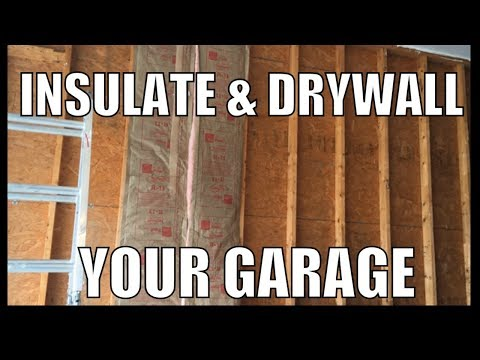 How to insulate and drywall finish a garage wall - insulate exterior garage wall