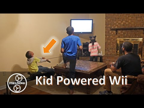 Dad Rigged A Rowing Machine to Power His Kids Video Games  Short Version  #61