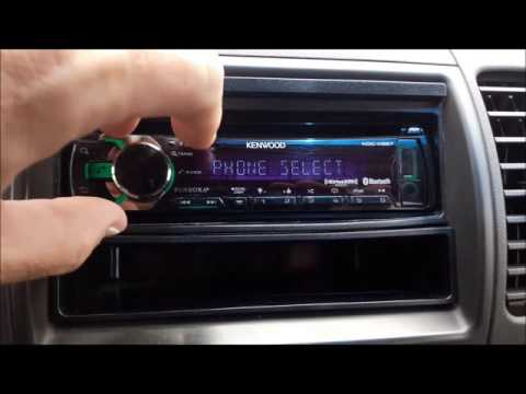 Deleting a registered Bluetooth device on a Kenwood Car Receiver.