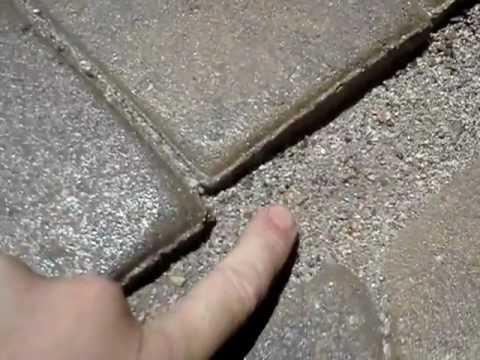 Sand lock sealing paver sand