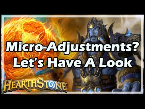 [Hearthstone] Micro-Adjustments? Let's Have A Look