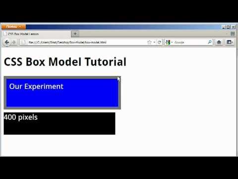 CSS Box Model Tutorial - Padding, Margin, and Border