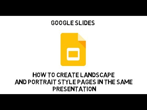 Google Slides:  How to insert portrait style slides in a landscape presentation