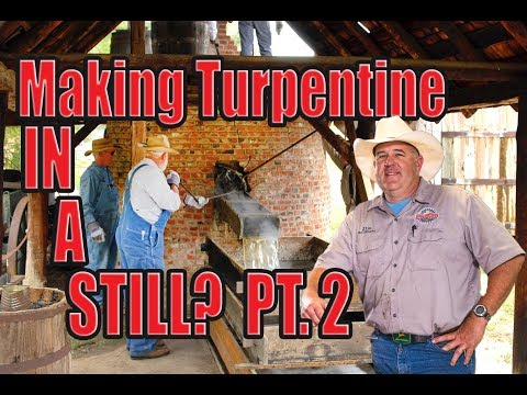 Turpentine distillation and let out at the Georgia Museum of Agriculture pt.2