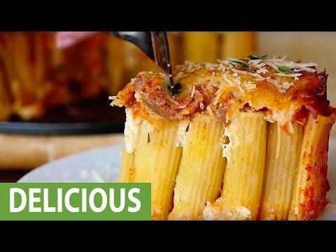 Delicious rigatoni pie recipe