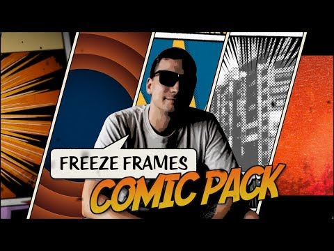 Comic and cartoon style freeze frame transitions for FCP X