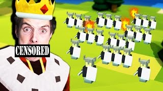 HUGE VIKING ARMY vs IDIOT - Kingdoms and Castles #1