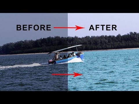 How to Change Water to Blue in photoshop|how to change water color in photoshop cc