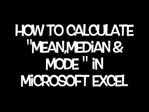 How to calculate Mean, Median and Mode in Excel.