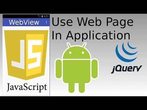 Android Studio - Create Webview And Write Native App In JavaScript