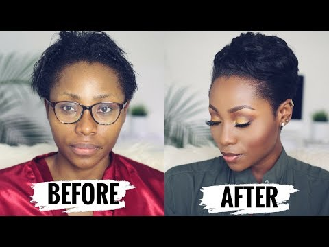 WATCH ME TRANSFORM: HOW TO STYLE SHORT RELAXED HAIR FOR BLACK WOMEN ( START TO FINISH) | DIMMA UMEH