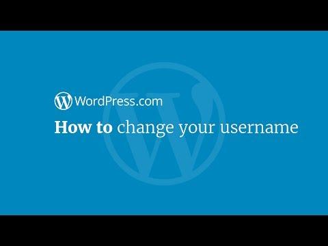 WordPress Tutorial: How to Change Your WordPress.com Username
