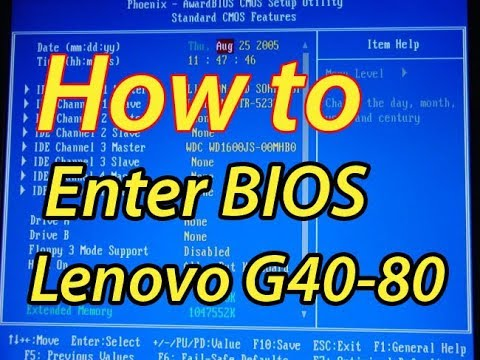 How to Enter BIOS Setup of Lenovo G40-80