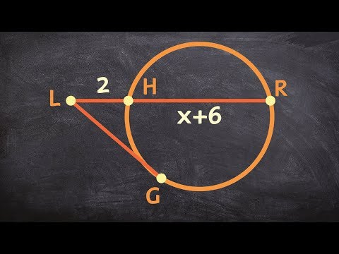 How to find x for a secant and a tangent line of a circle