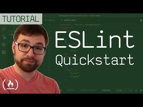 ESLint Quickstart - find errors automatically