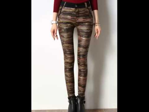 Leopard print leggings with bound feet slim skinny jeans.avi