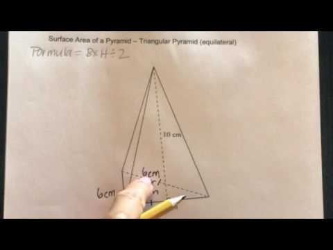 How to find the Surface Area of a Triangular Pyramid-Equilateral Triangle