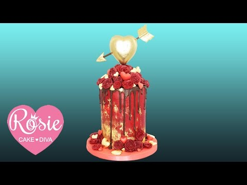 How to make a HEART OF GOLD Piñata Drip Cake