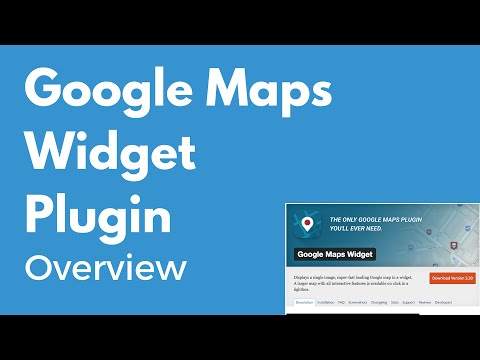 Google Maps Widget plugin for WordPress | Display a map on your website | Overview
