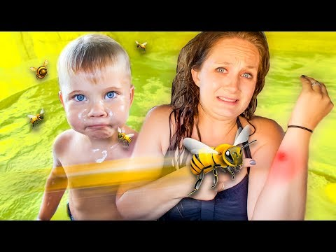MOMMY MEETS A BEE! 🐝 OUCH!