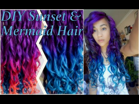 How To: Sunset & Mermaid Hair Ombre Tutorial | Irresistible Me Hair Extension Review