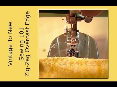 No Serger Overcast Edge Overlock Edge with Zig-Zag Sewing Machine