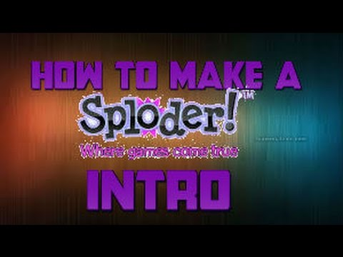 Sploder-How to make a intro
