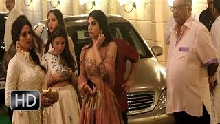 Sridevi Boney Kapoor Spotted With Daughters Khushi and Jahnavi at Diwali Party